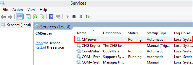 CMServer-Windows-Service Management-Console
